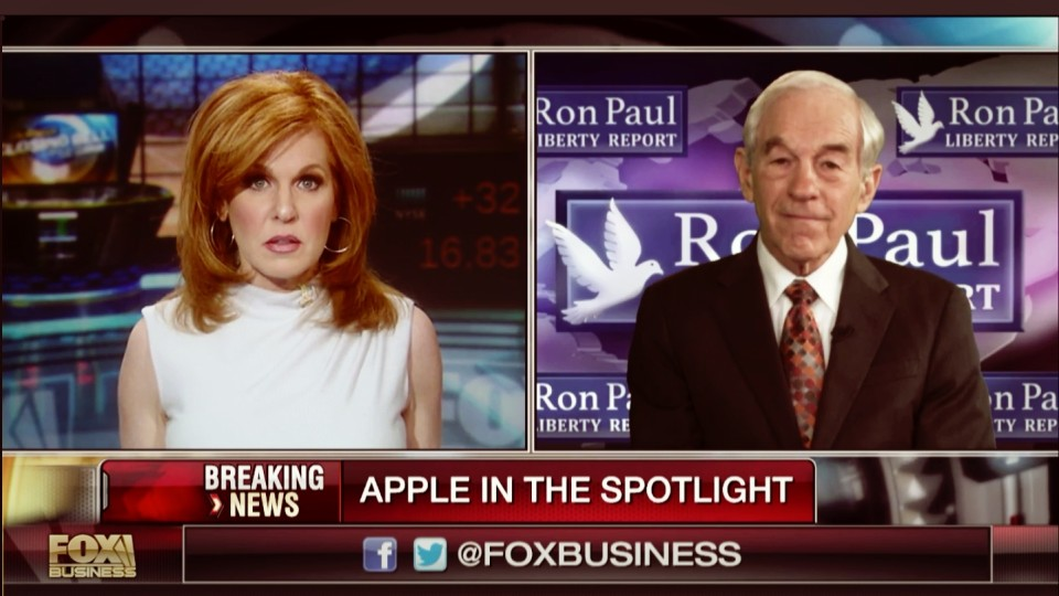 Ron Paul on Fox Business: Encryption is there to Protect us from Government Spying