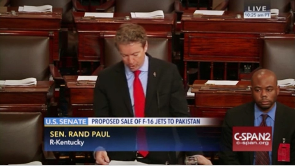 Sen. Rand Paul's Forces Senate Vote to Halt U.S. Arms Sales Pakistan