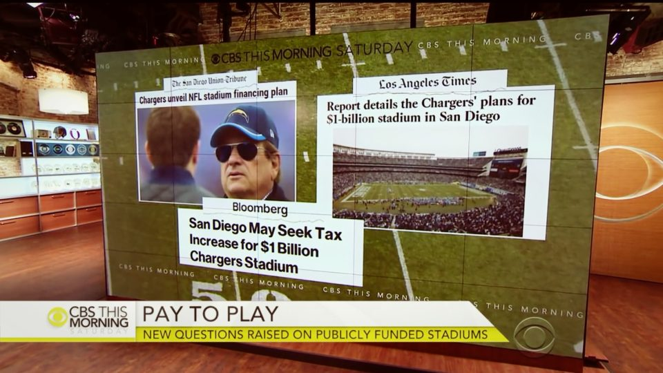 San Diego Chargers New Stadium Proposal would recieve $350 Million in Taxpayer Money