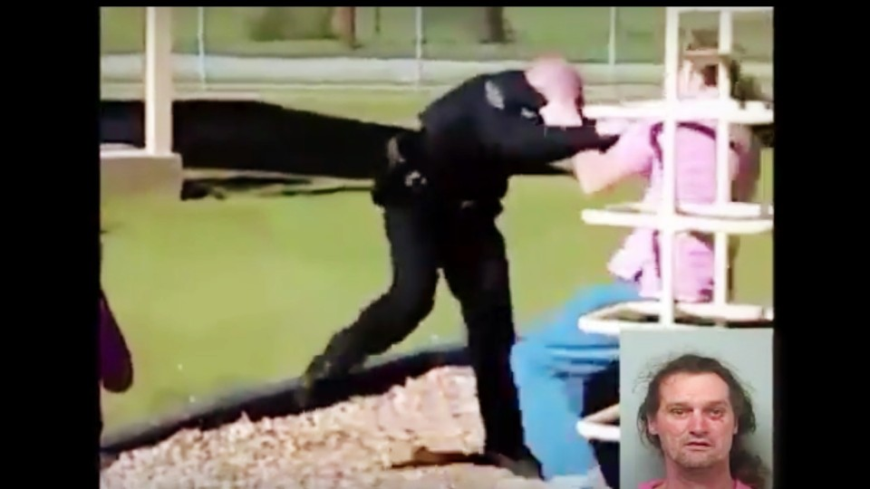 Man Gets In Fist Fight With Georgia Cop at Playground