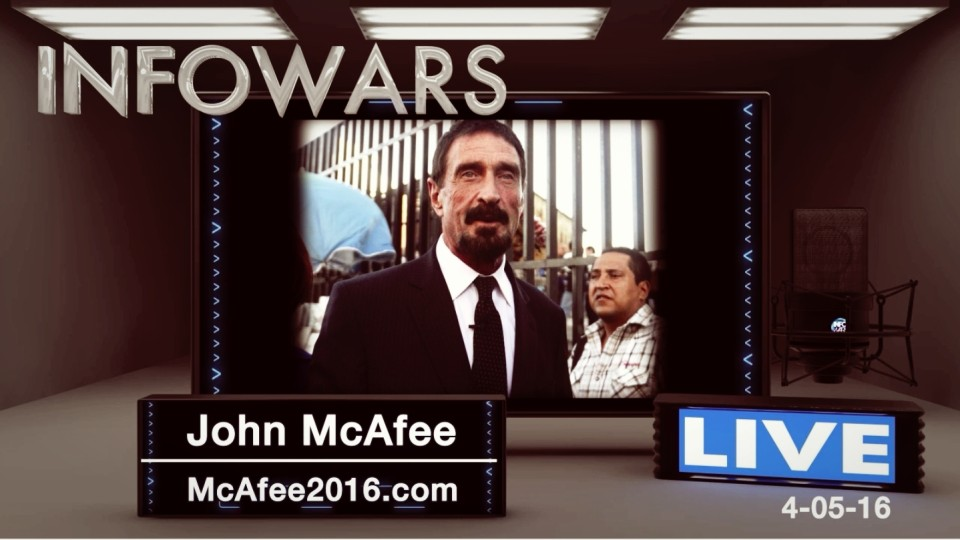 McAfee Interview: 'The Panama Papers report is a set up Orchestrated by the US Govt to Smear our Enemies'