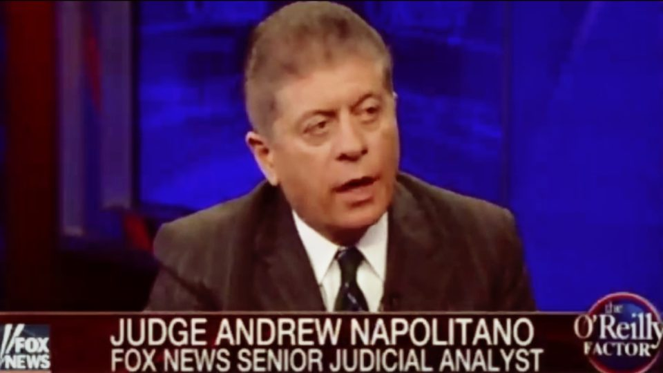 Judge Napolitano Claims FBI has 'Overwhelming' Evidence to Indict and Convict Clinton