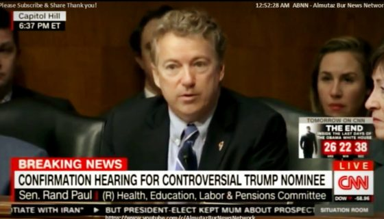 Rand Paul Questioning Betsy DeVos– Trump Nominee