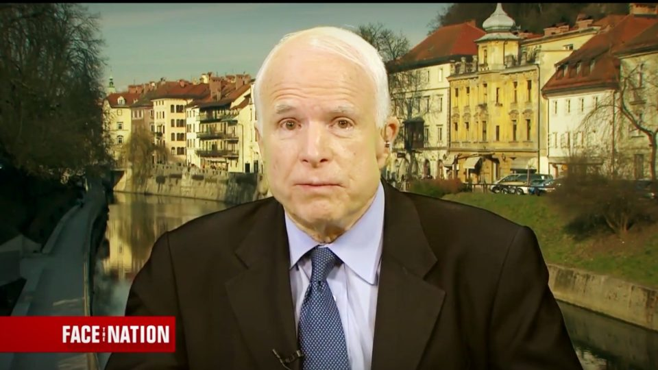Sen McCain Calls On Trump Admin To Do More In Syria