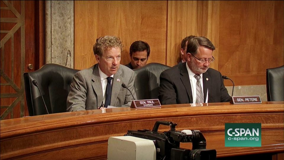 """Sen. Rand Paul Holds Hearing on """"Broken Beakers: Federal Support for Research"""""""