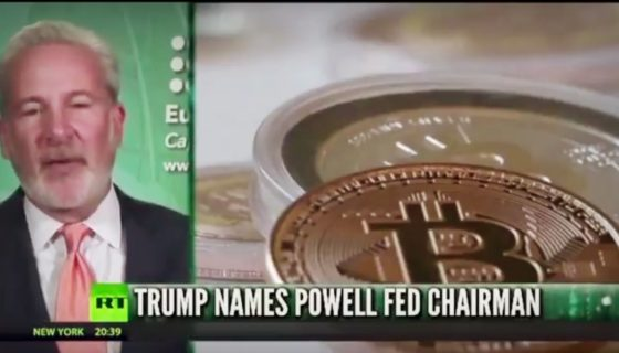 Peter Schiff on RT   We Could Be Having a Huge Bubble In Cryptocurrencies