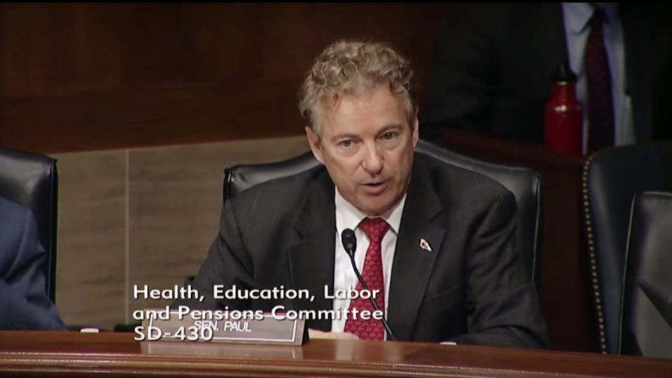 "Sen. Rand Paul at HELP Hearing on ""The Front Lines of the Opioid Crisis"""
