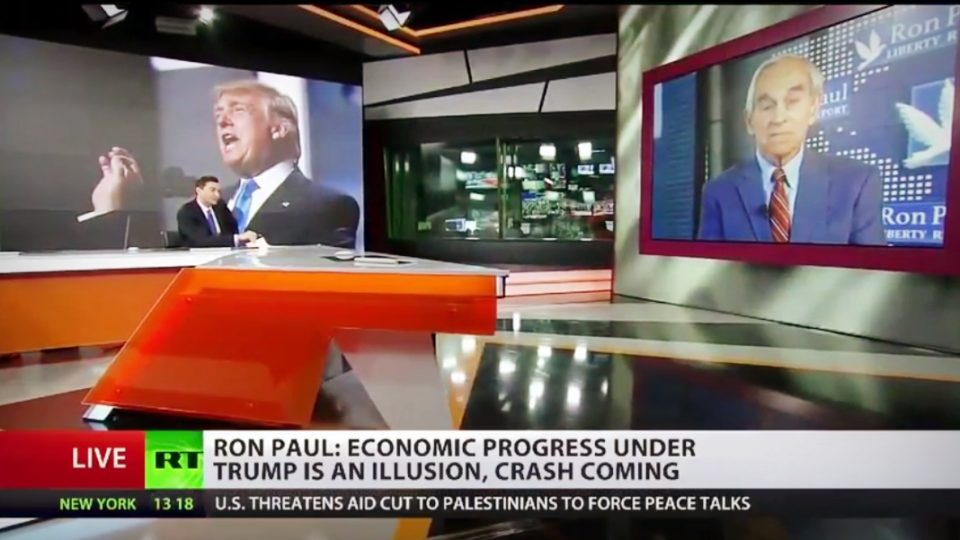 Ron Paul on RT | 'Economic Progress Under Trump Is Illusion, Crash Coming'