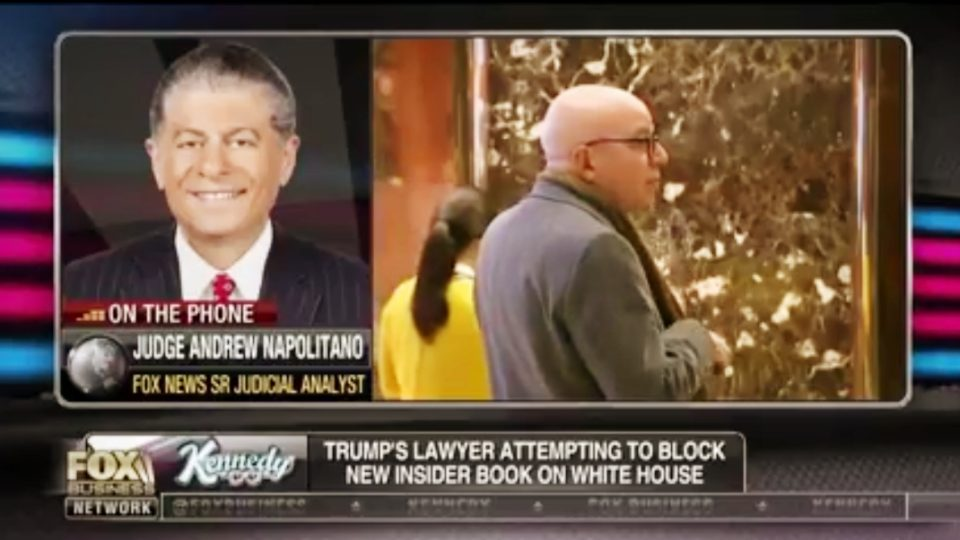 Judge Napolitano | Trump Looks to Stop The Distribution of Michael Wolff Book