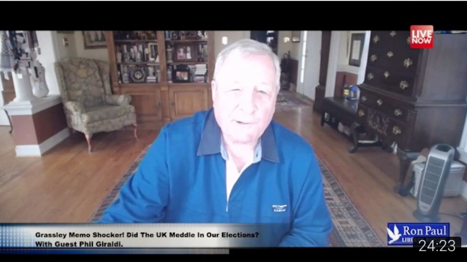 Grassley Memo Shocker! Did The UK Meddle In Our Elections? With Guest Phil Giraldi