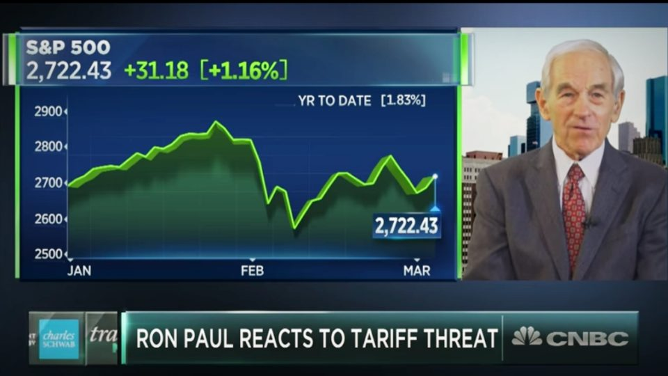 CNBC | Ron Paul on Trump's Tarrifs & The Major Market Correction Coming