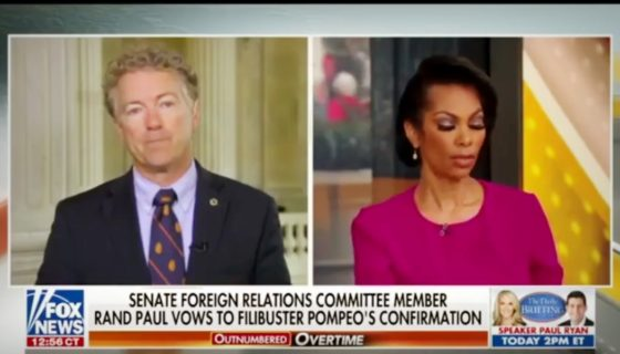 Rand Paul Reveals Letter From The FBI & Possible Filibuster Against Mike Pompeo
