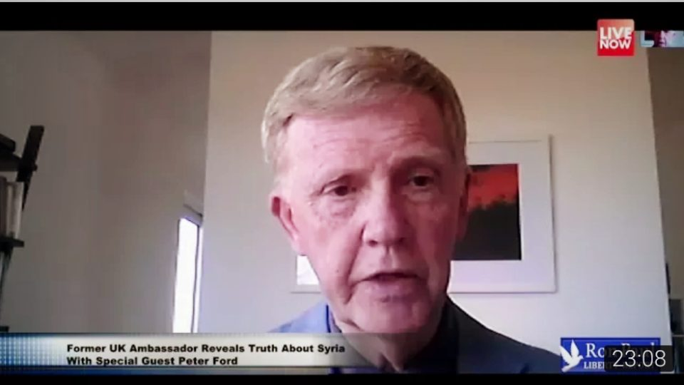 Former UK Ambassador Reveals Truth About Syria – With Special Guest Peter Ford