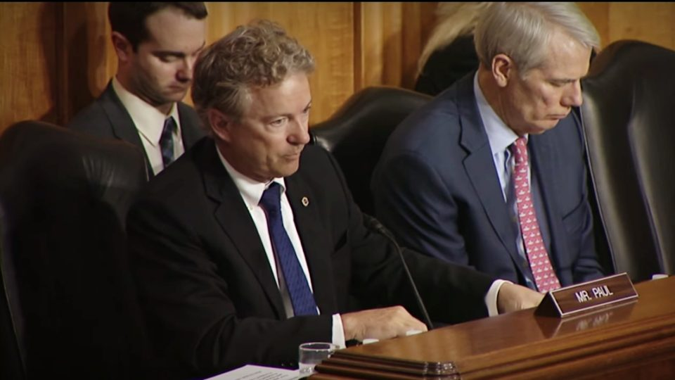 Sen. Paul Questions CIA Director Mike Pompeo at Sec. of State Nomination Hearing – April 12, 2018