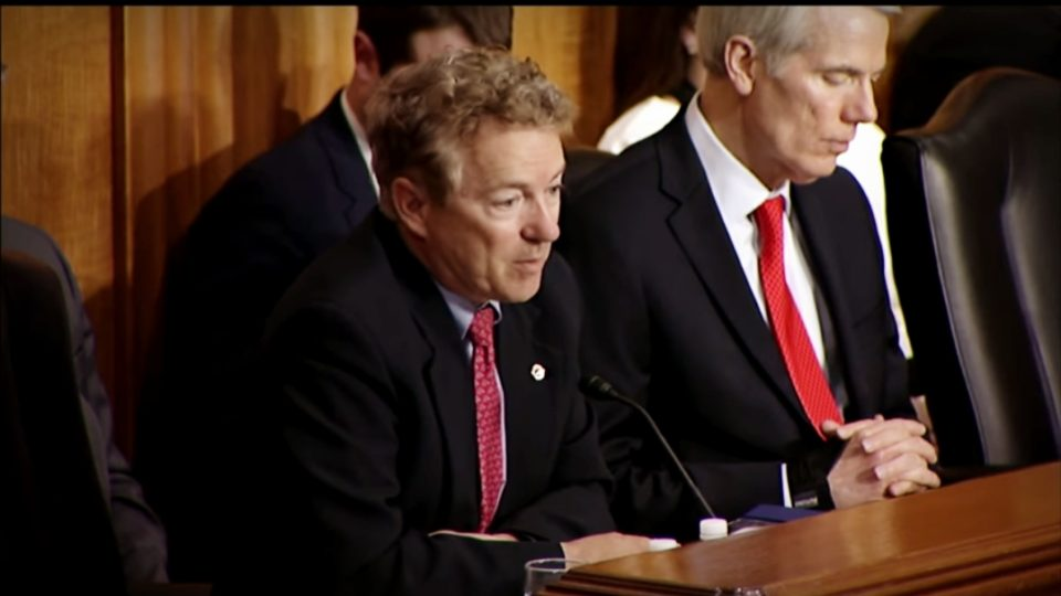 Sen. Paul Comments on Foreign Policy and Pompeo Nomination at SFRC Hearing – April 23, 2018