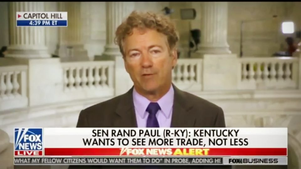 Sen. Rand Paul on North Korea Summit, Trade Wars, Bill Clinton, & Unlimited War