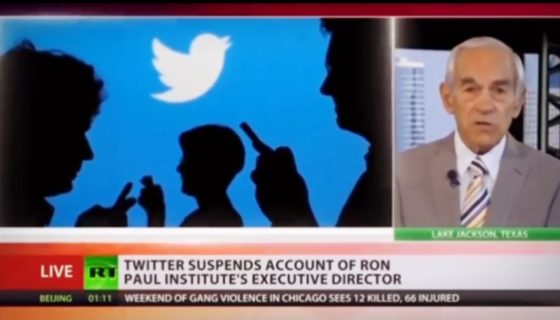 Ron Paul Joins RT To Discuss U.S. Sanctions & Twitter Suspensions