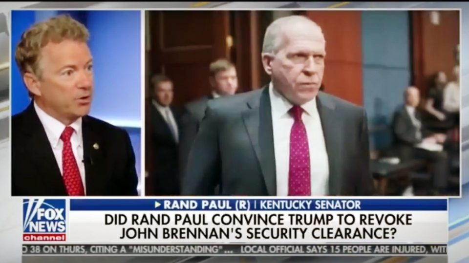 Sen. Rand Paul Discusses John Brennan and His Russia Trip