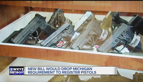 New bill Would Drop Michigan Requirements to Register Pistols